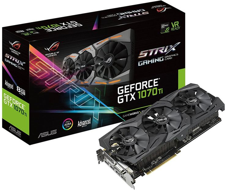 Asus GeForce GTX 1070 Ti Rog Strix Advanced 8GB GDDR5 (256 bit) DVI-D, 2xHDMI, 2xDP, BOX (ROG-STRIX-GTX1070TI-A8G-GAMING) w Morele.net