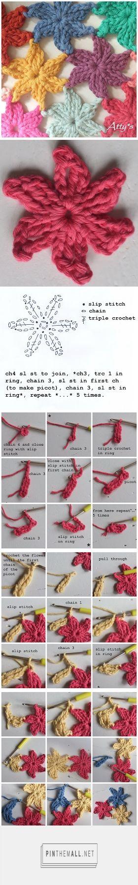 #Crochet_Tutorial - Join as you go flowers. Great idea! Enjoy from #KnittingGuru ** http://www.pinterest.com/KnittingGuru