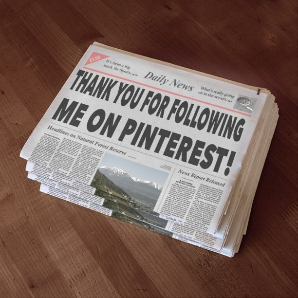 THANK YOU FOR FOLLOWING ME ON PINTEREST!!!