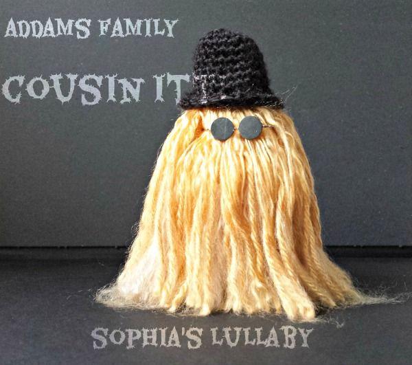 Cousin Itt-Addams Family #handmade #crochet #amigurumi #addamsfamily #cousinitt #amigurumidoll