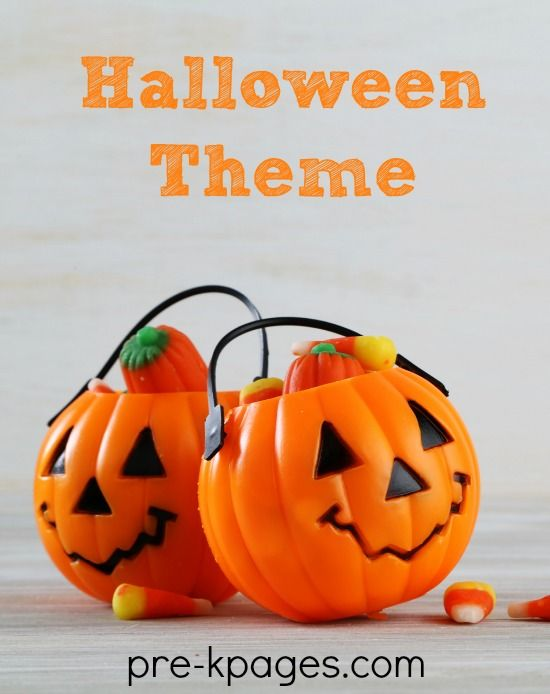 Preschool and Pre-K theme activities for Halloween and Pumpkins. Literacy, math, printables book lists and more!