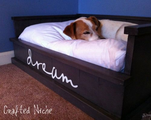 DIY dog bed. This is FAB! Total pet-peeve when my dog's bed is just flopped on the floor in some corner. Functional and adorable. …and easy?