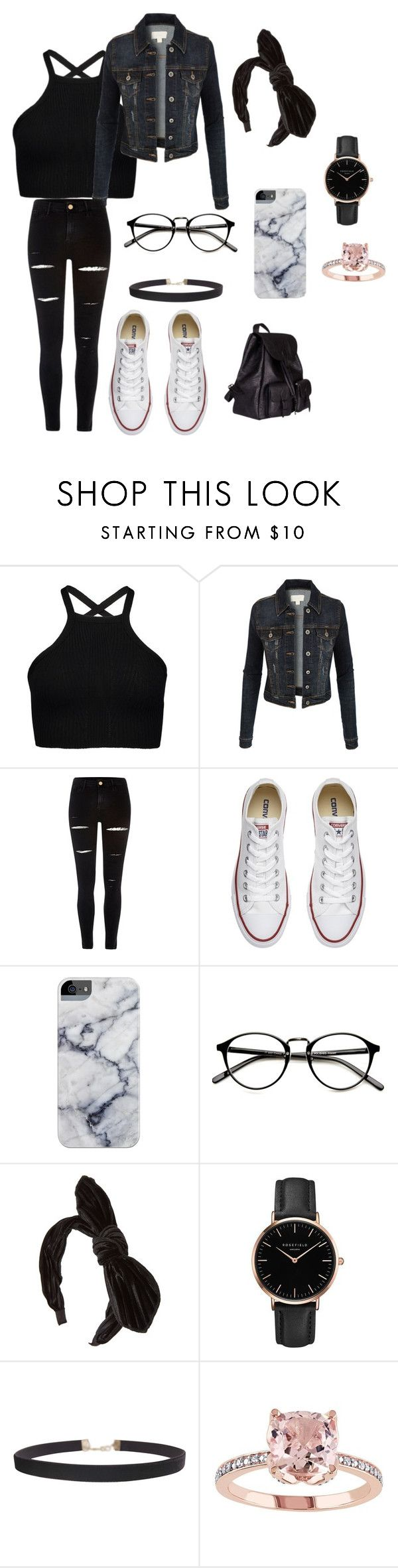 """Everthing!!!!"" by malfoy-granger-weasly ❤ liked on Polyvore featuring LE3NO, River Island, Converse, Topshop, Humble Chic and Yves Saint Laurent"