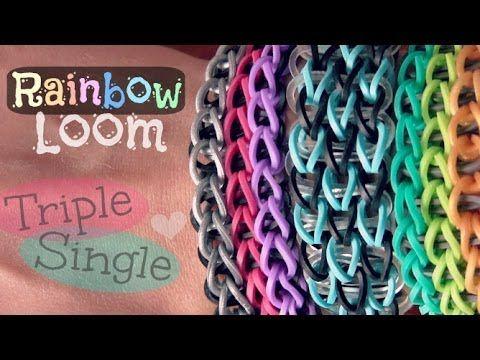 112 best Rainbow Loom images on Pinterest   Rubber band ... Rainbow Loom Double Triple Single