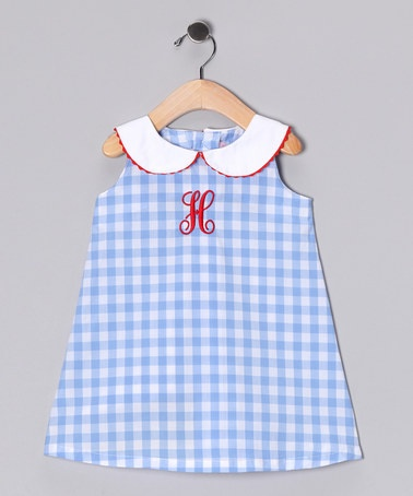 Blue Personalized Initial Dress