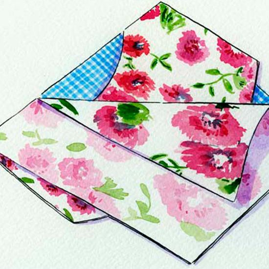 Make a floral peg bag