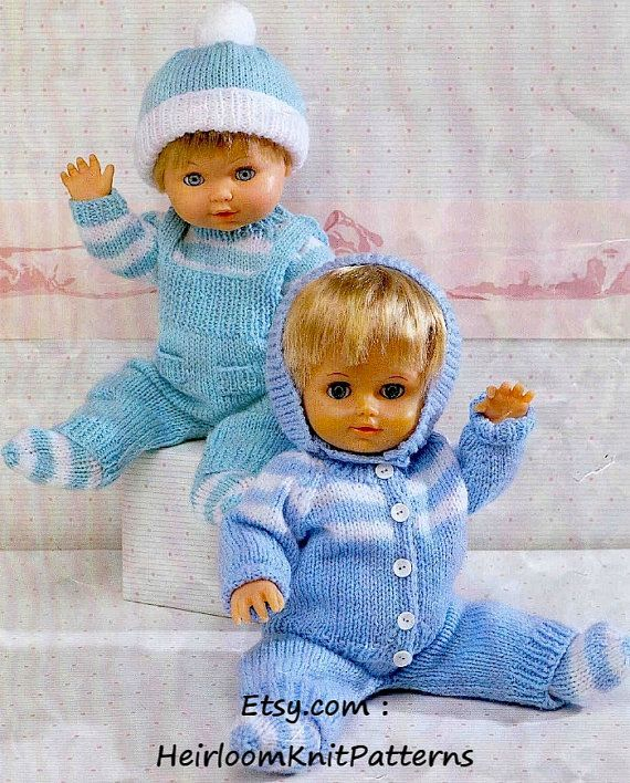 Knitting Pattern for Doll's Pram Set, Sweater Cardigan Dungarees Hat Socks, 12-22'' DK/ 8ply Pattern, Doll Clothes Instant download PDF - 47