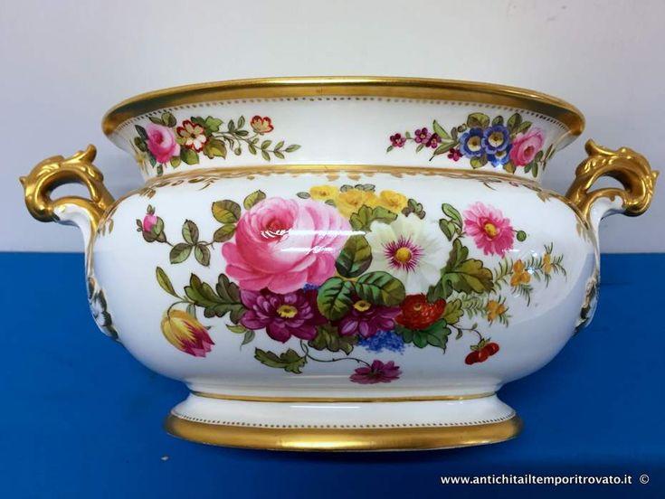 Oggettistica d`epoca - Vasi Antico vaso in porcellana Spode - Piccolo vaso Copeland Immagine n°1