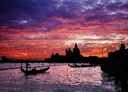 Gondole, Bazylika, Wenecja, Włochy