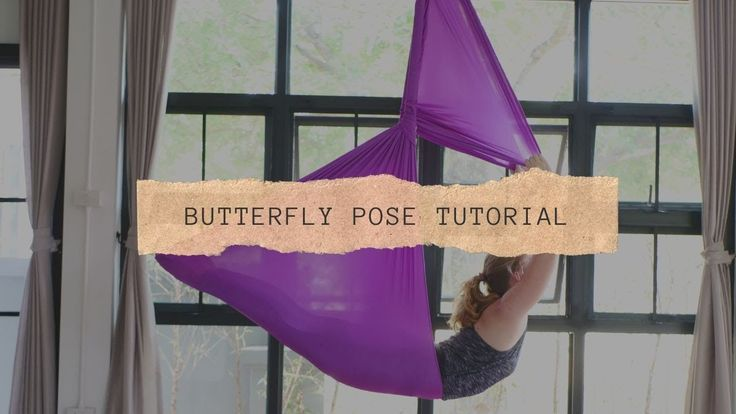 Aerial yoga pose butterfly pose youtube in 2020