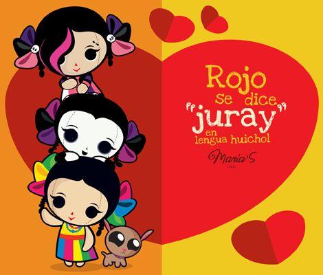 """Ilustración: """"Rojo, el color del amor"""" #MaríasINC #Ilustración #Diseño…"""