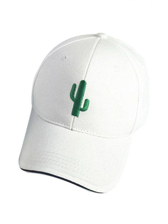 Cactus White Baseball Cap - WHITE