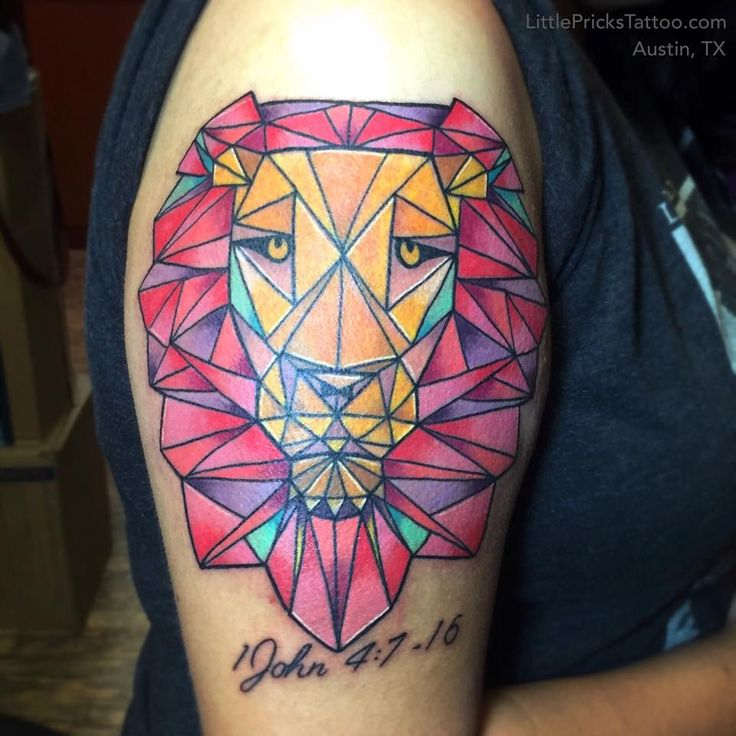 geometric tattoo color - Buscar con Google