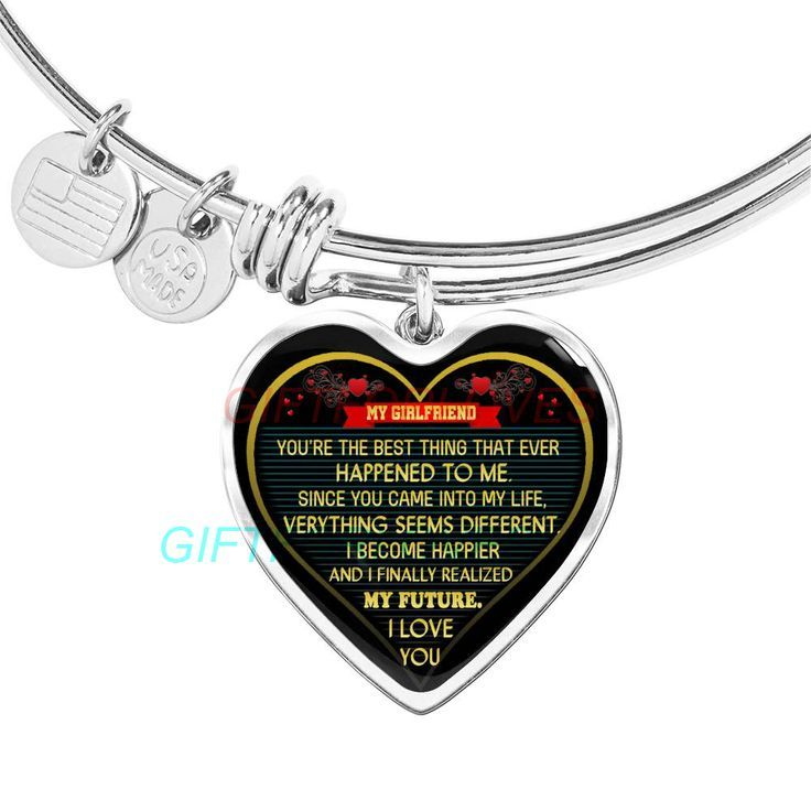 a6887b2a2 To my girlfriend: Gift Ideas for girlfriend, girlfriend bangle, to my  girlfriend bangle