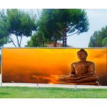 Brise vue imprimé déco Bouddha