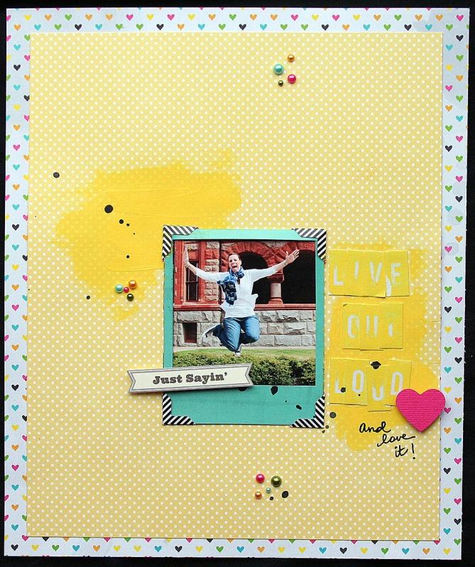 Layout by Elizabeth Carney  Scrapbook Circle Daydreamer kit - April 2012