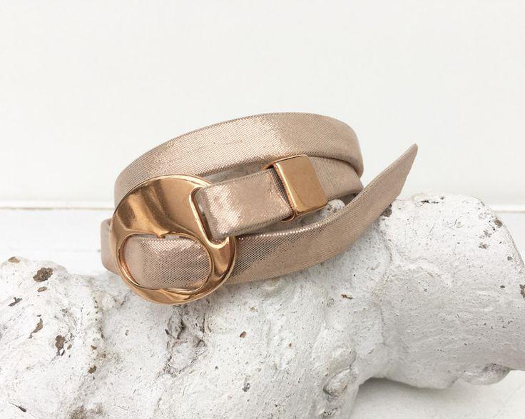 Wickelarmbänder - Wickelarmband - Leder  - rosegold  - ein Designerstück von moanda bei DaWanda