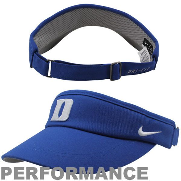 Nike Duke Blue Devils Sideline Dri-FIT Adjustable Performance Visor - Duke Blue - $23.99