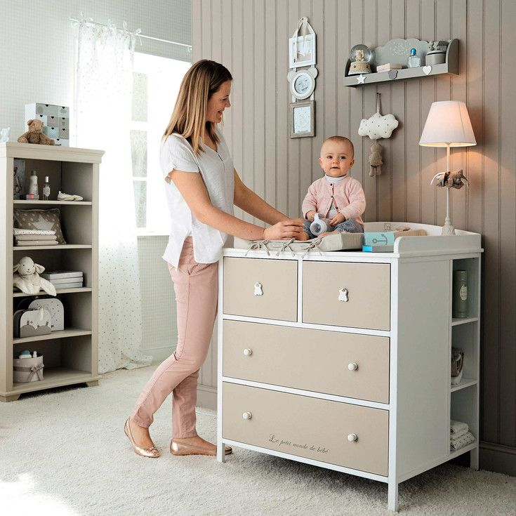 Table langer maisons du monde chambre b b for Commode table a langer bebe