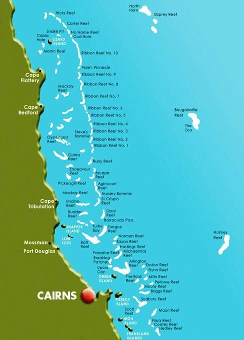 Great Barrier Reef Karte.Scubadivingsite Scuba Diving Site In 2019 Cairns Australia