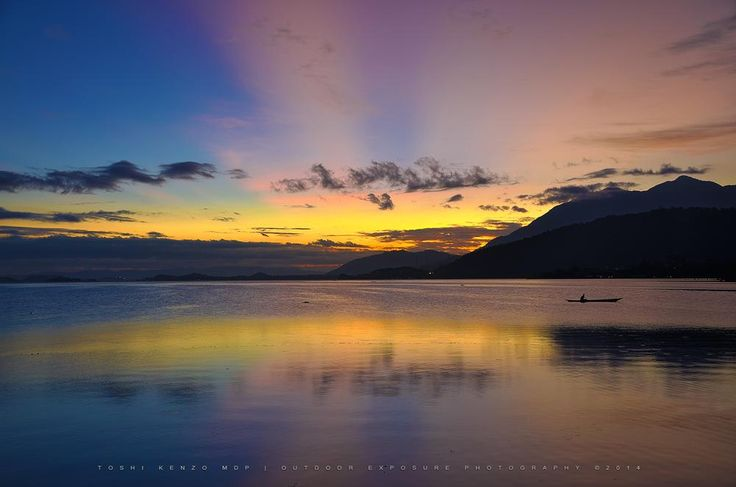 Colorful Sunset Reflection from Lake Sentani.. by TOSHI KENZO MDP™