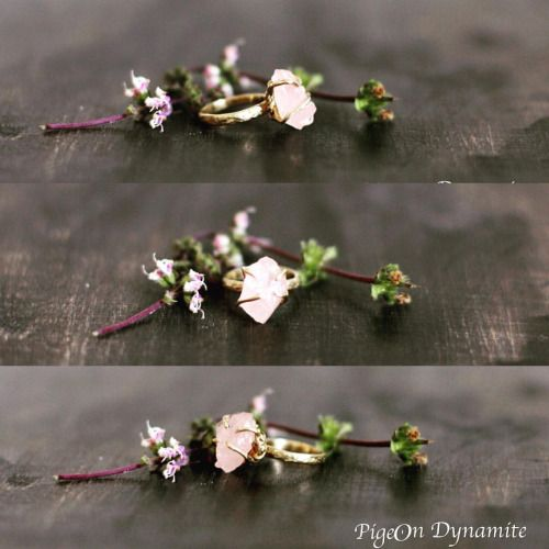Raw rose quartz mini ring. www.PigeonDynamite.etsy.com#pigeondynamite 原石ローズクォーツのミニシリーズリングはクリーマとエッツィーから販売中❤️#etsy #etsyjewelry #happyholiday#gift#ring#rosequartz#rawquartz#oneofakindjewelry#madeinnyc#原石リング#クリーマ #指輪#ニューヨーク#ジュエリー#クリスマス #ハンドメイド#一点もの#クォーツ#ギフト