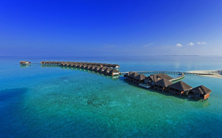 maldives bridge houses wallpaper - http://69hdwallpapers.com/maldives-bridge-houses-wallpaper/