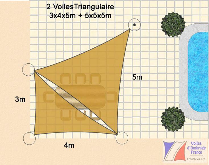 Voile Ombrage 5m Triangulaire plus 345m Triangulaire