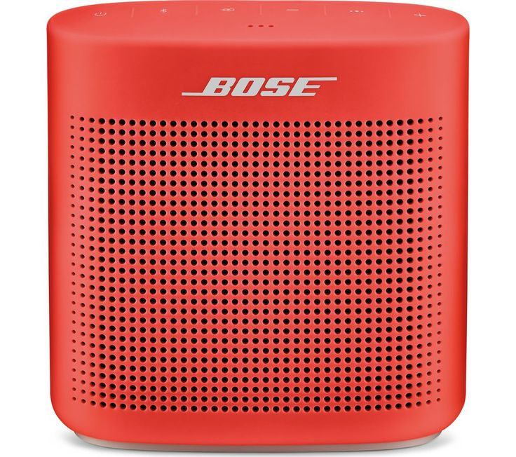Buy BOSE Soundlink Color II Portable Bluetooth Wireless Speaker - Red, Red Price: £129.95 Top features:- Enjoy great sound quality wherever you go - Listen almost anywhere thanks to a rugged water-resistant design - Pair easily with a Bluetooth device using voice prompts - Get up to 8-hours of battery life on a single charge Enjoy great sound qualityThe Bose Soundlink Color II Portable...