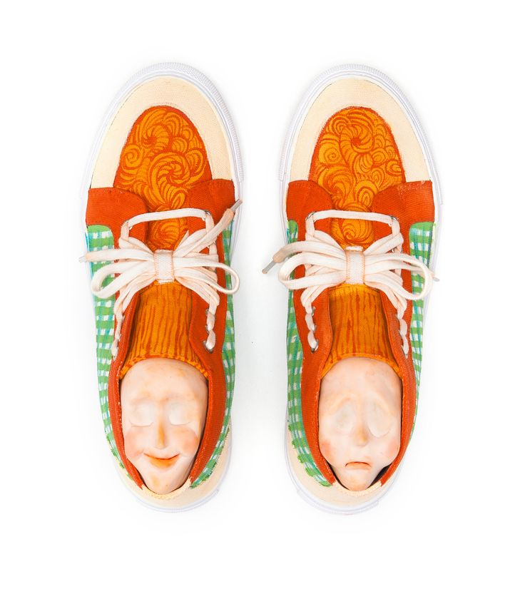 Green Gingham and Ginger sneakers for GORMAN by Tai Snaith