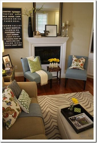 Love this room and this blogger! she had GREAT design ideas that are truly budget friendly!
