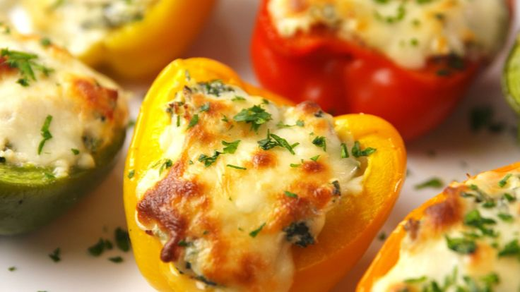Spinach Artichoke Stuffed Peppers