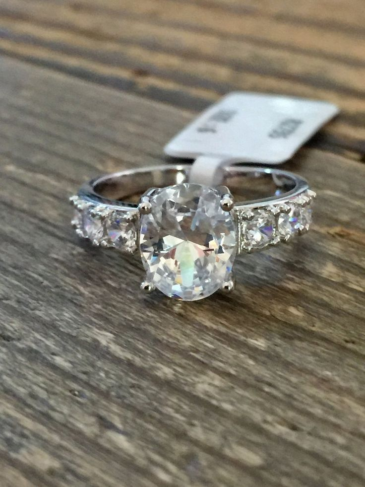 A Classic 2CT Oval Cut Russian Lab Diamond Engagement Ring
