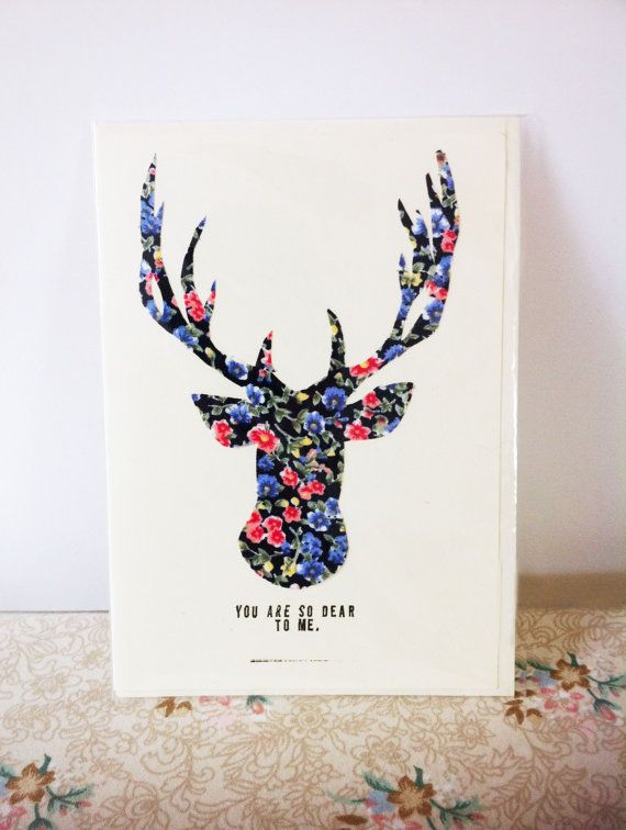 12 best xmas cards images on pinterest christmas cards for Reindeer christmas card craft