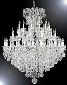 This beautiful Chandelier is trimmed with Empress Crystal(TM) A great European tradition. Nothing was ever quite so elegant as the fine crystal chandeliers that