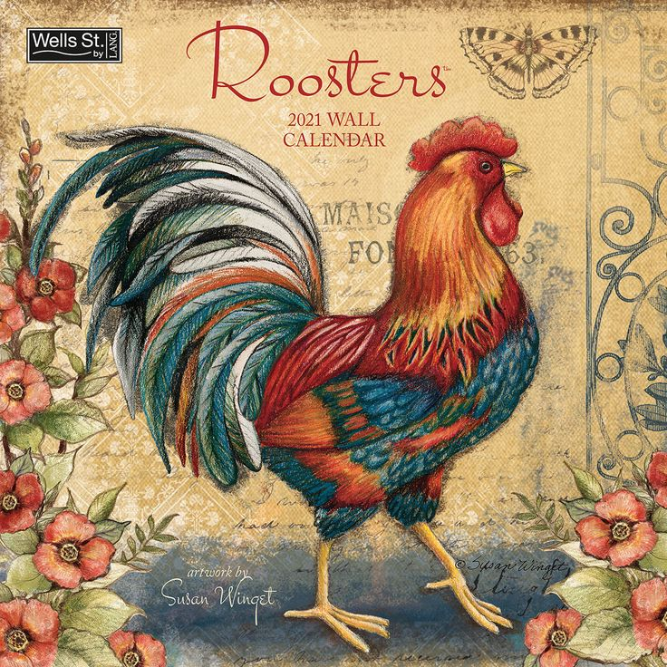 2021 roosters wall calendar wells street by lang denim on office wall colors 2021 id=69661
