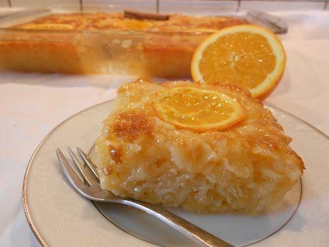 Greek Orange Pie(Πορτοκαλόπιτα)-Katerina Giannakopoulou-KaterinalitleKitchen - YouTube