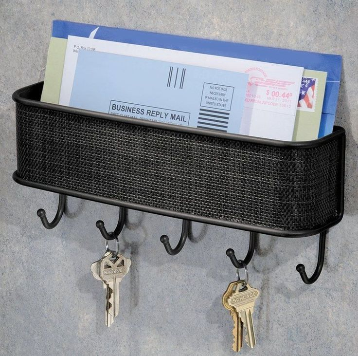 key rack and letter wall holder organizer storage mail hook metal