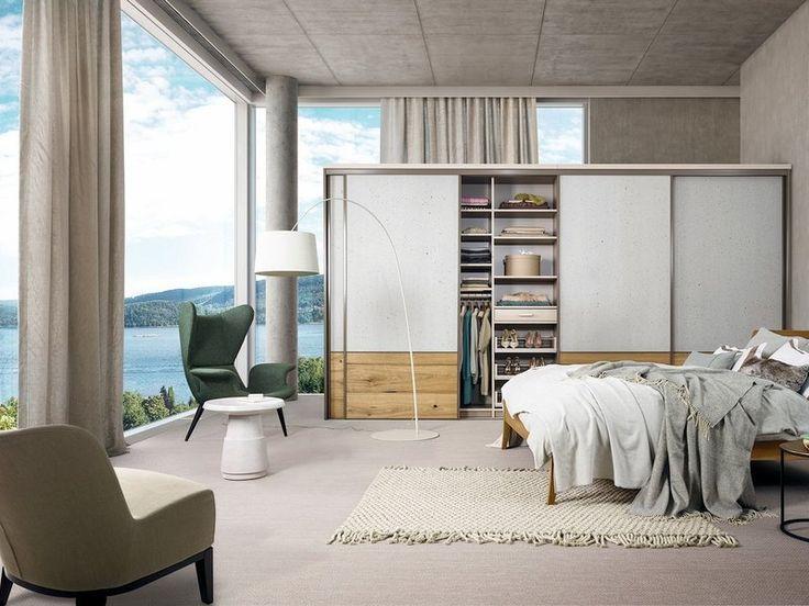 Elegante Holz und Beton Kombination