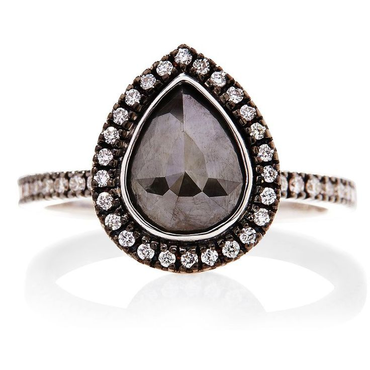 Sethi Couture black diamond engagement ring