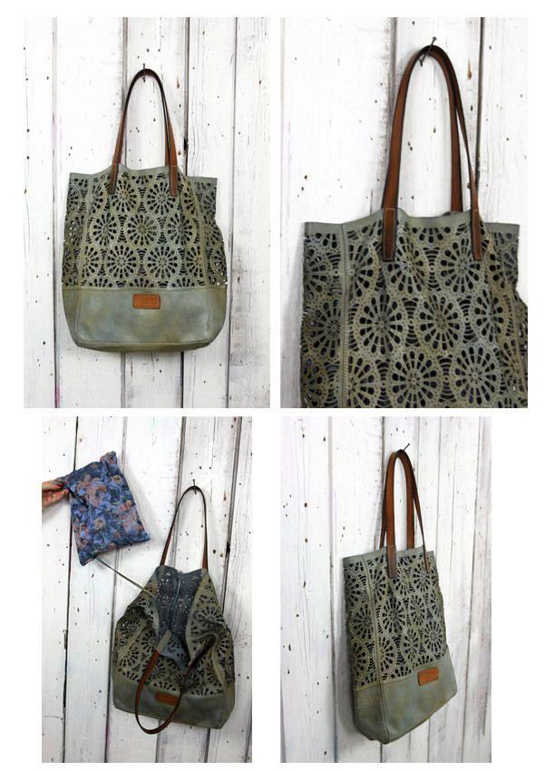 """Handmade vintage leather bag """"LASER BAG"""" di LaSellerieLimited su Etsy"""