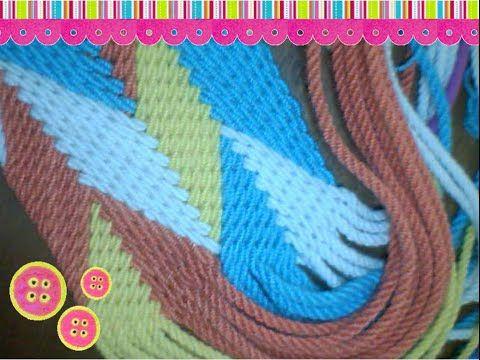 Fajon o gasa tipo Wayuu 32 cordones - YouTube