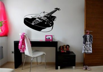Detailed Guitar Sticker eclectic-wall-decals