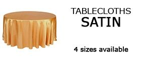 Satin Tablecloths, Wedding Table Linens   Los Angeles, California