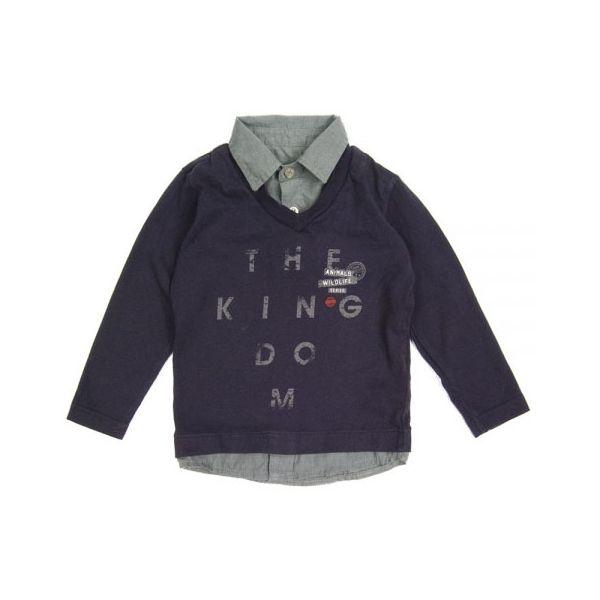 Bluzka chłopięca z kołnierzykiem Zara 92-98