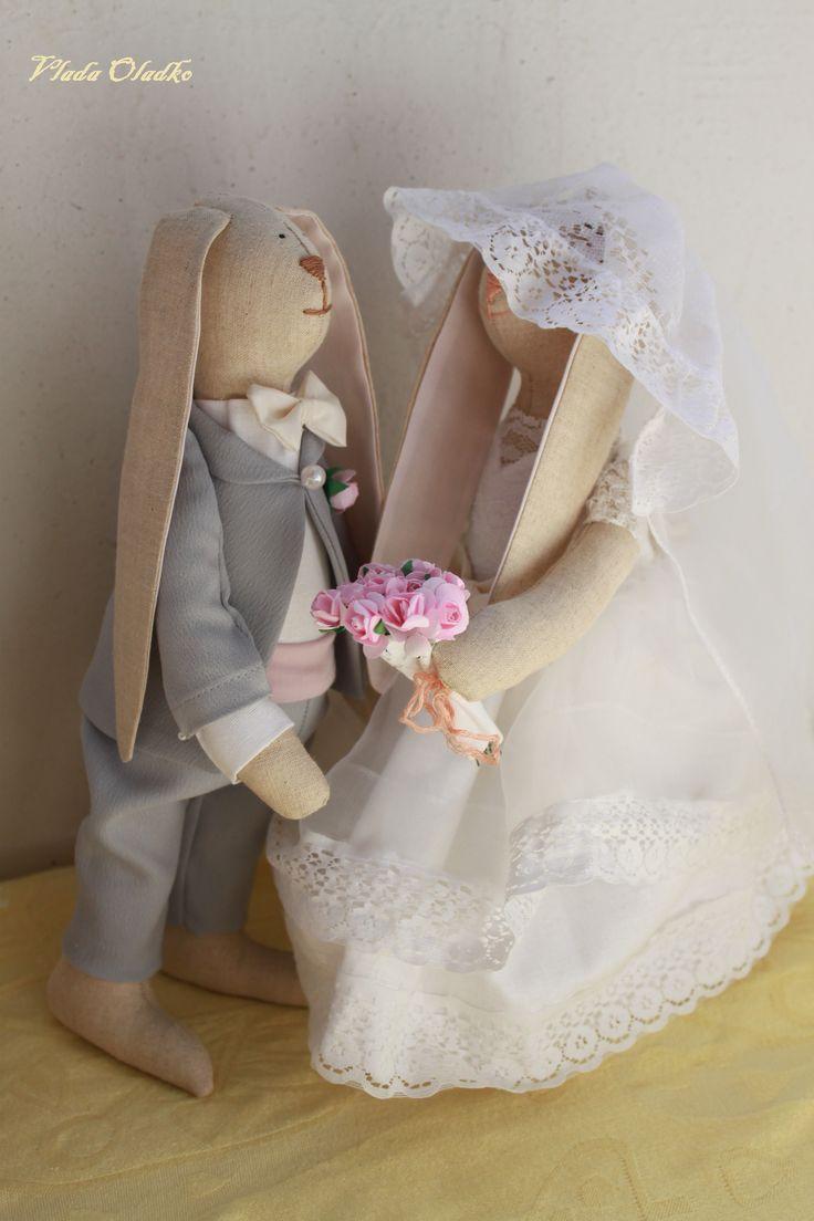 Свадьба кроликов  #wedding #tilda #rabbit #bunny #кролик #жених #тильда #невеста #свадьба