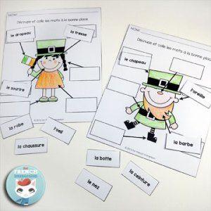 La Saint-Patrick: FREE Saint-Patrick's labelling worksheets in French!