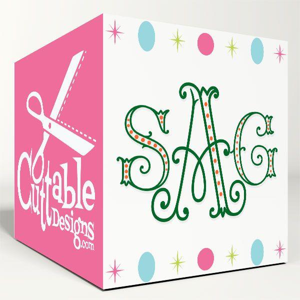 Arabesque Dots SVG Cuttable Font