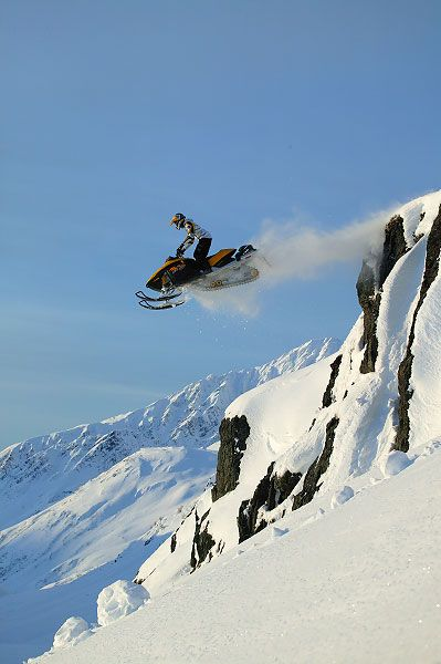 You see & do lots of this during the winter months!  Snowmobile riding in Chugach National Forest, Alaska...