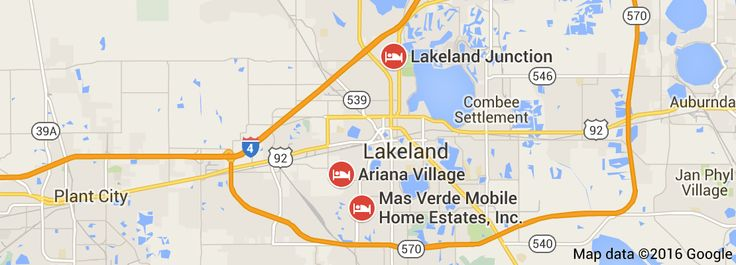 Map of 55+ communities in lakeland fl